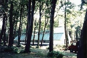 Pavilhão do Livro, James Stirling, 1991<br />Foto A. Guerra