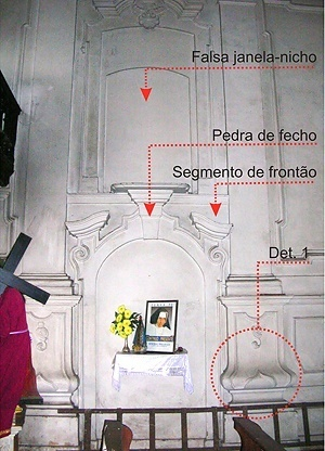 Fig. 12 - Pano central das paredes laterais [Domingos Oliveira, 2007]