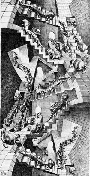 M.C. Escher, Escadaria, 1951