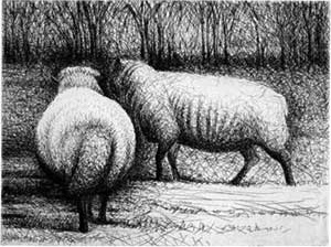 Henry Moore. Sheep, 1972 [The Henry Moore Foundation]