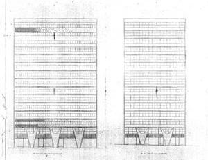 Figura 10 – Elevações mostrando os pilares de transição