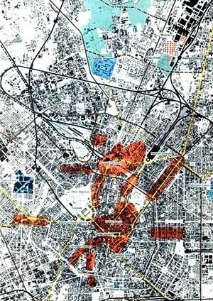 Estudo – Inserção do projeto no contexto urbano de Milão