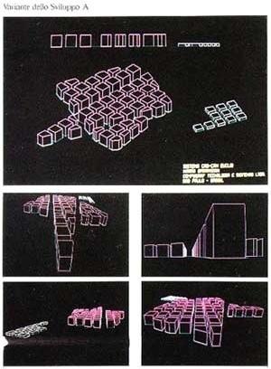Eletro – Hipótese de crescimento das edificações segundo quatro maneiras diferentes. Hipótese A