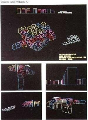 Eletro – Hipótese de crescimento das edificações segundo quatro maneiras diferentes. Hipótese C