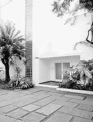 Casa da rua Bahía, Gregori Warchavchik, São Paulo<br />Foto Nelson Kon