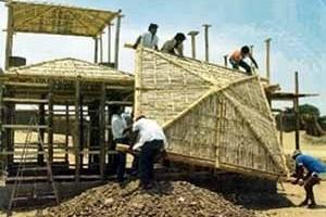 Casas de bambú en Piura, al norte de Perú. Arq. Eliseo Guzmán