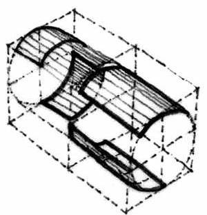 En nuestra visión, una bóveda tiene como elemento geométrico dominante al cilindro. Por tanto una bóveda es una sección cilíndrica o cilindroidal como es el caso de las bóvedas núbicas, pues su sección no es circular sino parabólica. Una cúpula, en cambio