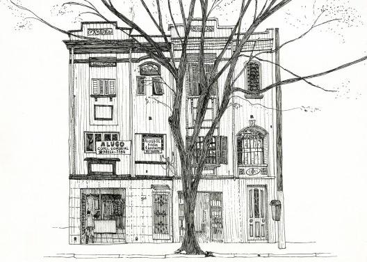 Ilustração do livro Pequenos acasos cotidianos<br />Desenho de Juliana Russo