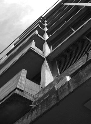 Edifício Guilhermino Weissman, Arquiteto desconhecido, Rua Pamplona<br />Foto LEG