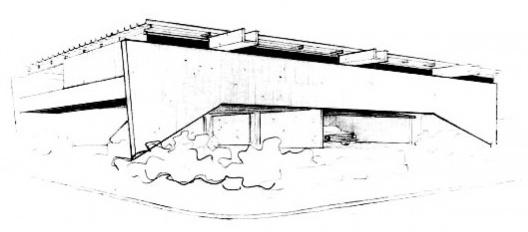 Croqui da Residência Jan Rabe. Blumenau, 1968 [Arquivo Hans Broos]