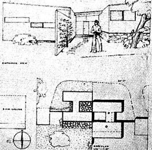 "Imagem 17 - Casa ""H"", Designs for post-war living, Marcel Breuer, 1943 [Art and Architecture]"