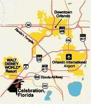 Localização de Celebration, Flórida