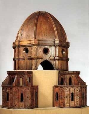 Maquete em madeira para cúpula da Igreja de Santa Maria dei Fiori