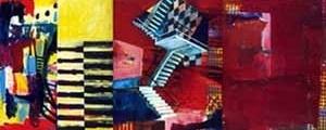 Em que sentido, em que sentido? Marilice Corona, 2000. Acrílico sobre tela – 120 x 300 cm (tríptico)