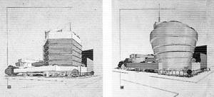 Estudos para o Museu Guggenheim. Frank Lloyd Wright