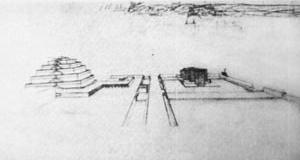 Desenho para o Mundaneum. Le Corbusier e Pierre Jeanneret, 1928