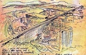 Estudo de Le Corbusier para São Paulo, 1929 [BARDI, Pietro Maria. Lembranças de Le Corbusier. São Paulo, Nobel, 1984]