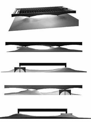 Perspectiva e elevações [Modelo eletrônico por David Sperling e Daniel Argoud]