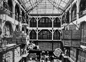 Depósito de mercadorias, arquitetura industrial que gera bairros fabris nas cidades  [Arquivo CEDODAL]