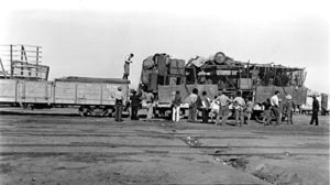 O trem levando um circo na província do Chaco em 1938  [Arquivo CEDODAL]