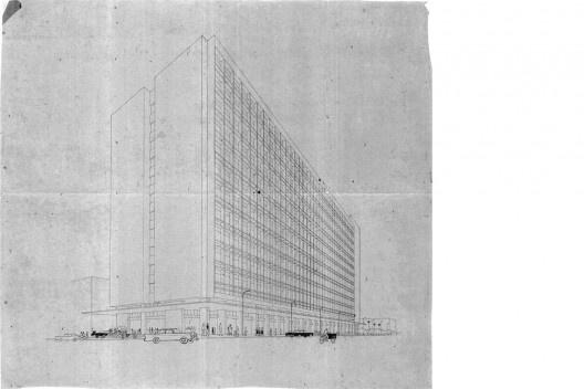 Perspectiva Palácio Progresso (1964-1969) – Desenho do arquiteto [Acervo Pessoal - José Liberal de Castro]