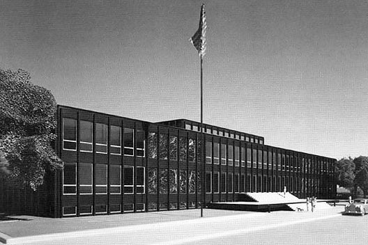 Consulado dos Estados Unidos, maquete, São Paulo. Arquiteto Mies van der Rohe, 1957-1962