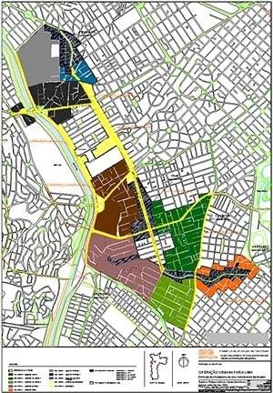 Operação Urbana Faria Lima – reavaliação: divisão em setores proposta [SEMPLA/PMSP]