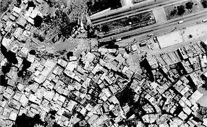 Vista aérea da Rocinha, Rio de Janeiro<br />Foto P. Seiblitz