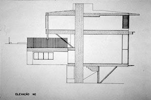 Res. Cunha Lima, 1958, corte [Acervo do Arquiteto]