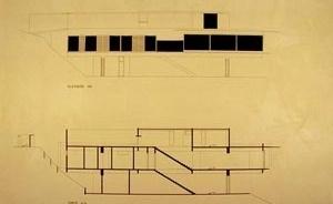 Res. Liliana Guedes, 1968, corte e elevação [Acervo do arquiteto]