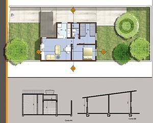 Exemplo de residência projetada pelo programa