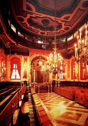 Scola Spagnola, Veneza, Itália, 1655. Vista da Arca Sagrada.  [MEEK, 1996, p. 134]