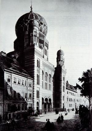 Sinagoga da Oranienburguer Strasse, Berlin, 1866.  [KRINSKY, 1996, p. 265]