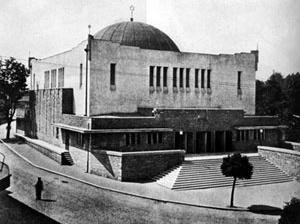 Sinagoga de Zilina, Eslováquia, 1928, Peter Behrens.  [KRINSKY, 1996, p. 306]