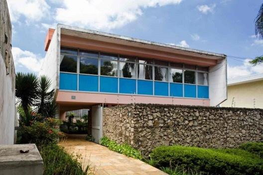Casa Mario Taques Bitencourt II, 1959. Arquiteto Vilanova Artigas<br />Foto Nelson Kon