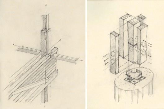 Residência Pio IX, detalhe construtivo, São Paulo SP Brasil, 1999. Arquitetos Marcelo e Marta Aflalo<br />Elaboração Marcelo Aflalo