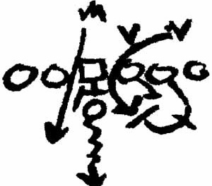 Diagrama de movimento no futebol, segundo Tschumi