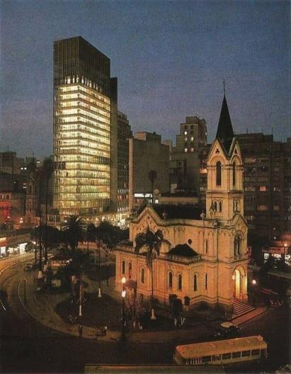 Edifício Wilton Paes de Almeida, São Paulo, 1961, arquiteto Roger Zmekhol<br />Foto divulgação  [Acervo Joao José Basso / Blog Sampahistorica]