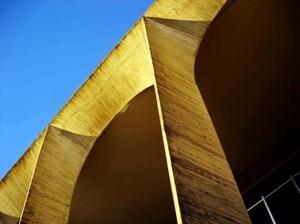 Textura e solução do concreto aparente do Palácio do Itamaraty<br />Foto Eduardo Rossetti, 2008
