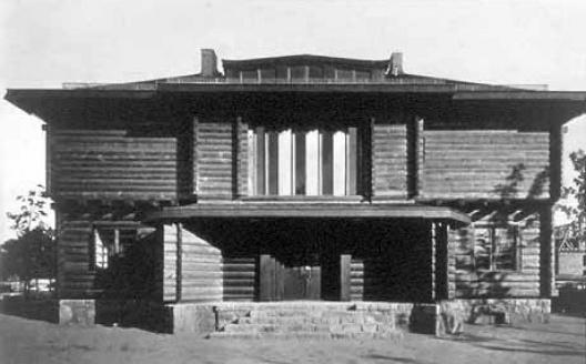 Casa de madeira em Sommerfeld, Berlim, 1921. Arquiteto Walter Gropius<br />Foto divulgação