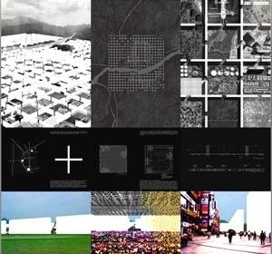 Esquemas estruturais, morfologia urbana : projeto para concurso para cidade multifuncional na Coréia de A; P. Ortega