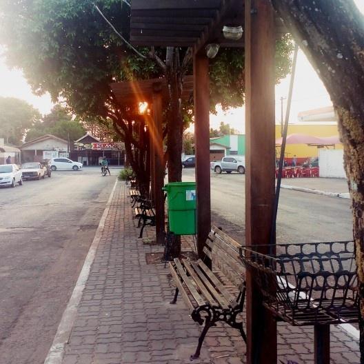 Canteiro Central da Avenida Alécio Pelachim, Barra do Bugres MT<br />Foto Paloma Morais Turchen, 2017