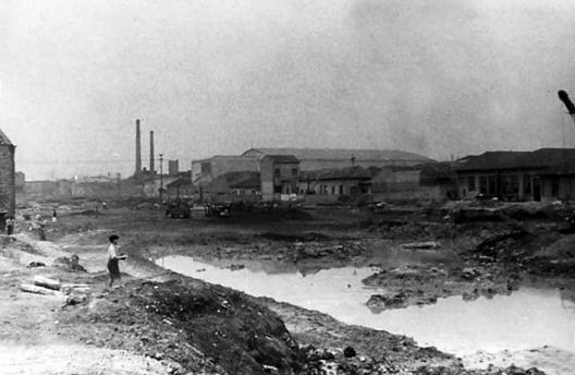 Construção da Radial Leste, São Paulo, 1954<br />Foto divulgação  [Wikimedia Commons]