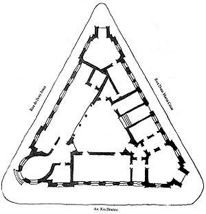 Planta baixa do pavimento térreo do edifício eclético