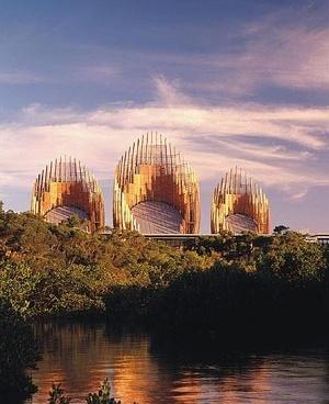Centro Cultural Jean Marie Tijibaou, relação de contrastes [www.rpbw.com]