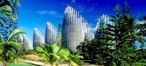 Centro Cultural Jean Marie Tijibaou – Relação das Cabanas com o entorno [www.rpbw.com]