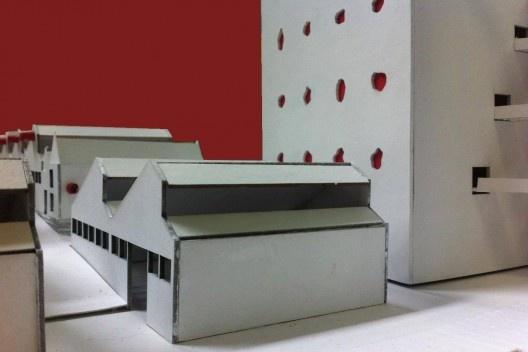 """Sesc Pompeia, maquete de Lea Deniele, Lucia Lotufo e Vittorio Degli Innocenti, disciplina """"Arquitetura no Brasil 2"""", FAU Mackenzie<br />Foto Vittorio Degli Innocenti"""