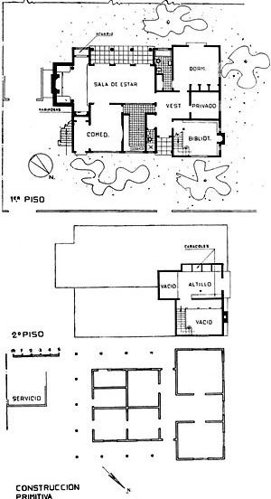 Casa de Los Guindos (1938-1945), planta da reabilitação