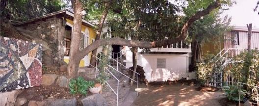 Casa Chascona, biblioteca e sala de leitura<br />Foto Nuria Álvarez Lombardero