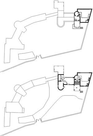 Casa de Isla Negra (1938-1945), plantas do primeiro e segundo piso